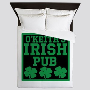 Personalized Irish Pub Queen Duvet
