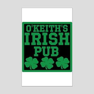 Personalized Irish Pub Mini Poster Print