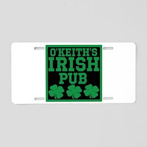 Personalized Irish Pub Aluminum License Plate