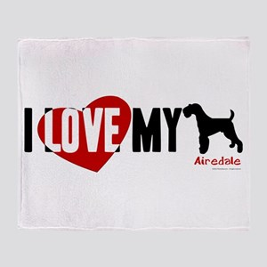 Airedale Throw Blanket