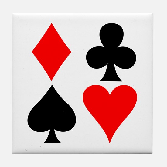 Playing Card Suits Tile Coaster
