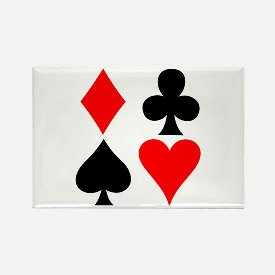 Playing Card Suits Rectangle Magnet