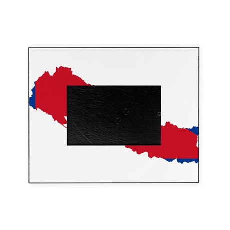 Nepal Flag and Map Picture Frame by FlagsAndMaps