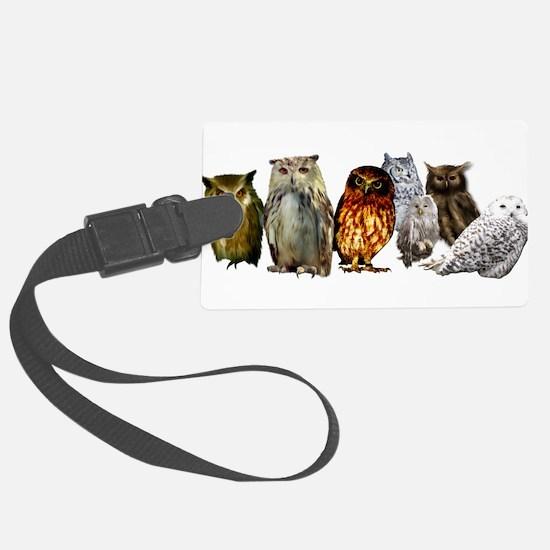 Owl Line Luggage Tag