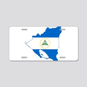 Nicaragua Flag and Map Aluminum License Plate