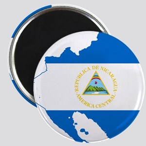 Nicaragua Flag and Map Magnet