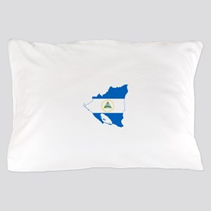 Nicaragua Flag and Map Pillow Case