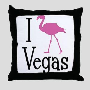 I Love Vegas Throw Pillow