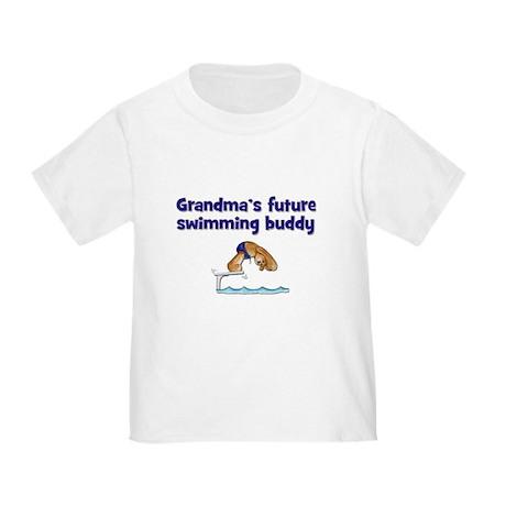 Grandma's Future Swimming Buddy Toddler T-S