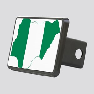Nigeria Flag and Map Rectangular Hitch Cover