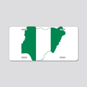 Nigeria Flag and Map Aluminum License Plate