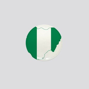 Nigeria Flag and Map Mini Button
