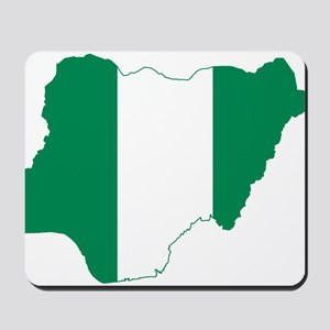 Nigeria Flag and Map Mousepad