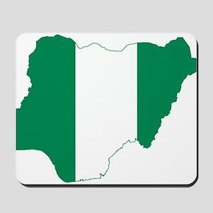 Nigeria Flag and Map Mousepad