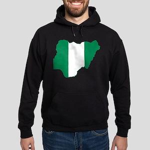 Nigeria Flag and Map Hoodie (dark)