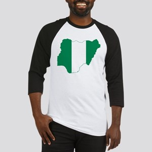 Nigeria Flag and Map Baseball Jersey