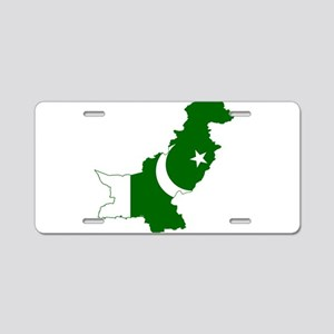 Pakistan Flag and Map Aluminum License Plate