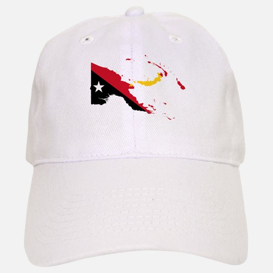 Papua New Guinea Flag and Map Baseball Baseball Cap