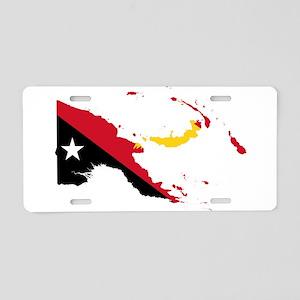 Papua New Guinea Flag and Map Aluminum License Pla
