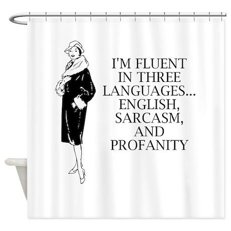 Three Languages Shower Curtain