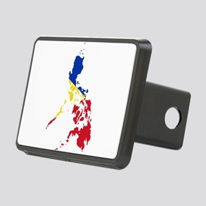 Philippines Flag and Map Rectangular Hitch Cover