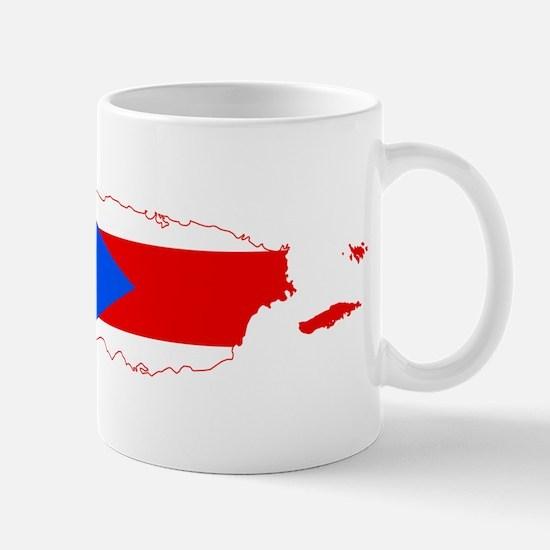 Puerto Rico Flag and Map Mug