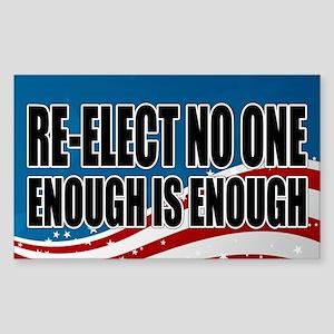 Re-elect No One Sticker (Rectangle)