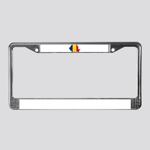 Romania Flag and Map License Plate Frame
