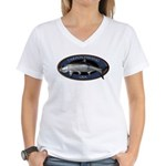 Women's V-Neck Tarpon Fishing T-Shirt