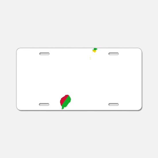 Sao Tome and Principe Flag and Map Aluminum Licens