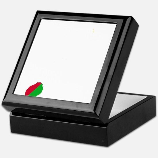 Sao Tome and Principe Flag and Map Keepsake Box