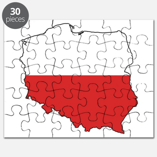 Flag Map of Poland Puzzle