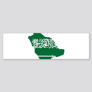 Saudi Arabia Flag and Map Sticker (Bumper)