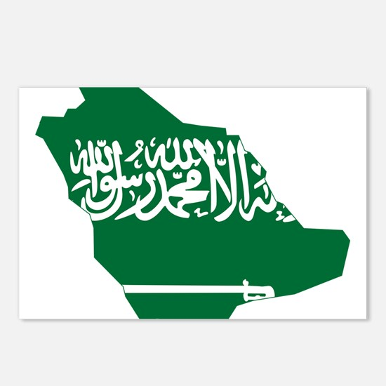 Saudi Arabia Flag and Map Postcards (Package of 8)