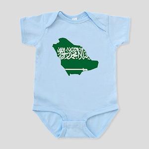 Saudi Arabia Flag and Map Infant Bodysuit