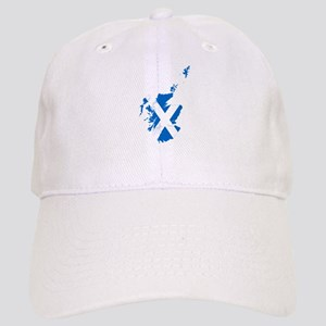 Scotland Flag and Map Cap