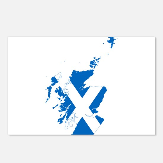 Scotland Flag and Map Postcards (Package of 8)