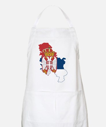 Serbia Civil Ensign Flag and Map Apron
