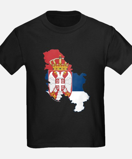 Serbia Civil Ensign Flag and Map T