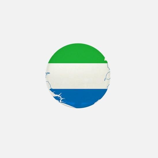 Sierra Leone Flag and Map Mini Button