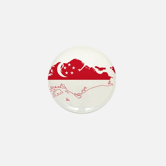 Singapore Flag and Map Mini Button