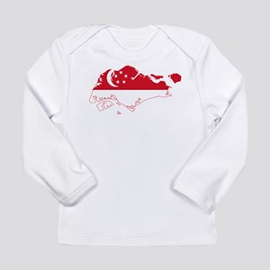 Singapore Flag and Map Long Sleeve Infant T-Shirt