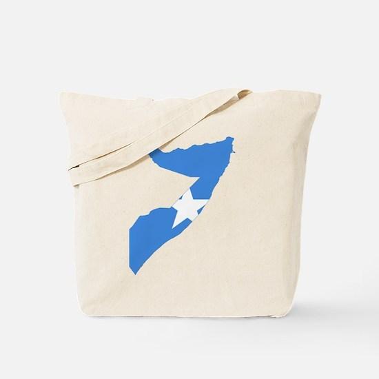 Somalia Flag and Map Tote Bag