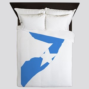 Somalia Flag and Map Queen Duvet