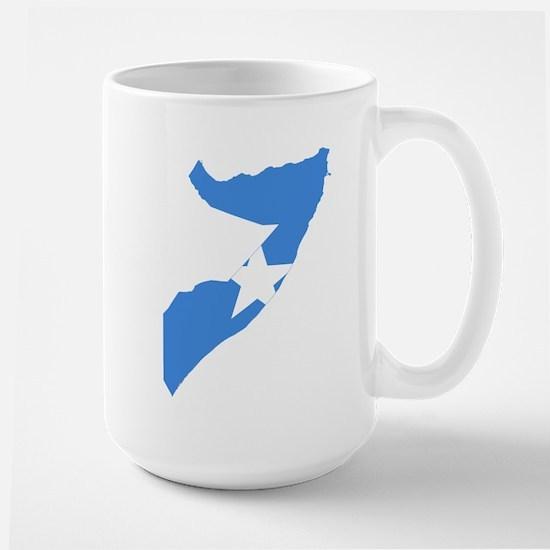 Somalia Flag and Map Large Mug