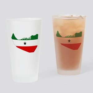 Somaliland Flag and Map Drinking Glass