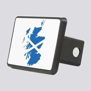 Flag Map of Scotland Rectangular Hitch Cover