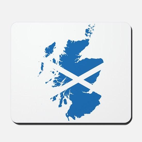 Flag Map of Scotland Mousepad