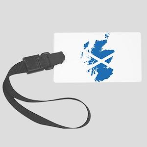 Flag Map of Scotland Large Luggage Tag