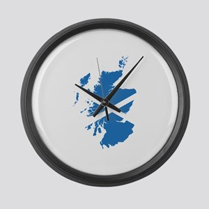 Flag Map of Scotland Large Wall Clock